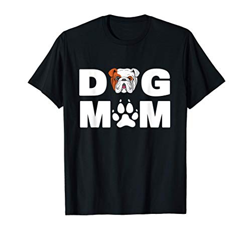 Dueño de la mamá del perro, divertido Bulldog Inglés Amor de Camiseta