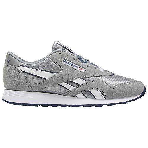 Reebok Herren CL Nylon Running Shoe, Grau Grau Blau, 42 EU