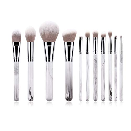 Mobeka 11 Pièces pinceaux de Maquillage Professionnels, Visage Fond de Teint Poudre Blending Fards fards à paupières cosmétiques Brosses Outils Kit