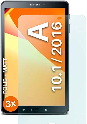 moex Protector de pantalla mate compatible con Samsung Tab A 10.1 (2016) – Protector de pantalla antirreflejos, protector de pantalla mate – 3 unidades