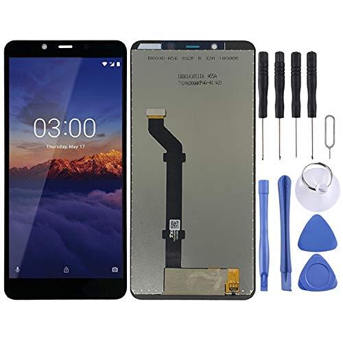 Leluckly1 Reemplace el Viejo para Nokia Reemplazo de la Pantalla LCD + Touch Pad y Digitalizador Asamblea Completa for Nokia 3.1 Plus para Nokia (Color : Black)