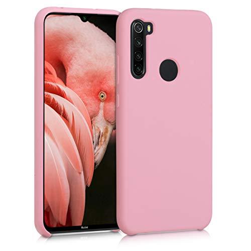 kwmobile Funda Compatible con Xiaomi Redmi Note 8 - Carcasa de TPU para móvil - Cover Trasero en Rosa Pastel Mate