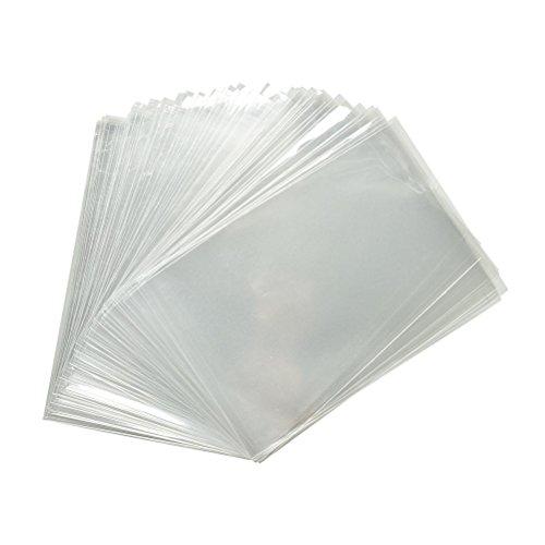 kgpack 200x Bolsas de plástico de celofán transparente 10 x 25 cmBolsitas de bolsas de plástico para galletas Galletas dulces Tortas de dulces Magdalenas de chocolate PiruletaBolsas de Decoracións