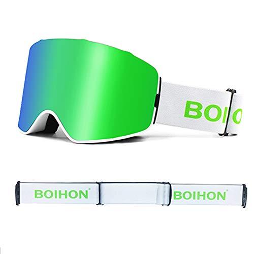 YA Gafas De Esquí Antiniebla Dobles, Lentes Desmontables Ga