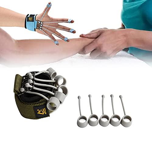 GOUDANER Finger Extension Exerciser,Finger Ejercicio Entrenador con Banda De Resistencia,para Fortalezas De Dedo De Guitarra,Escalada De Roca Estiramiento, Yoga, Aptitud 20lbs