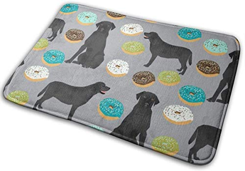"Tpp Best Labrador Retriever Fabrics Cute Dogs and Donuts Designs Floor Bath Entrance Rug Mat Absorbent Indoor Bathroom Decor Doormats Rubber Non Slip 15.7"" X 23.5"""