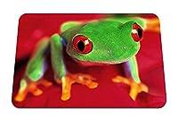 26cmx21cm マウスパッド (カエルの目の色は明るい) パターンカスタムの マウスパッド