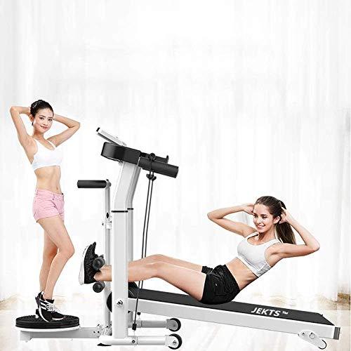 Woodtree plegable cinta de correr correr corriendo caminando por el gimnasio portátil Equipo de gimnasio pequeño Máquina de caminar mecánica multifuncional Familia Portátil Portátil caminar corriendo