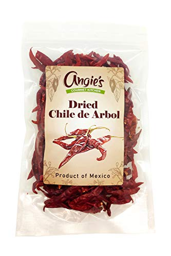 Dried Chile de Arbol Peppers 4oz | Freshly Packed in Resealable Bag