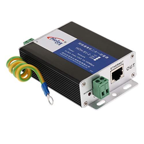 Homyl 1x Ethernet Power + RJ45 Überspannungsschutz Netzwerkgeräte Ableiter