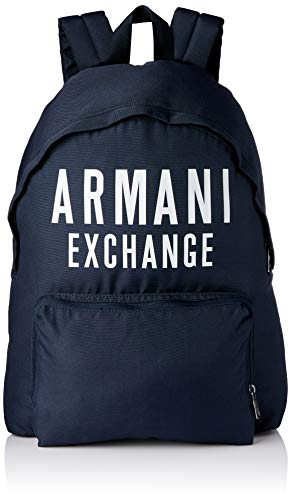 Armani Exchange - Backpack, Mochilas Hombre, Azul (Navy), 10x10x10 cm (W x H L)