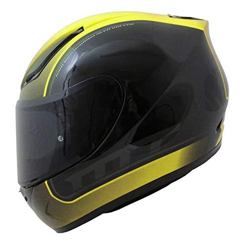 MT Revenge Binomy - Casco de moto (talla XL), color negro,