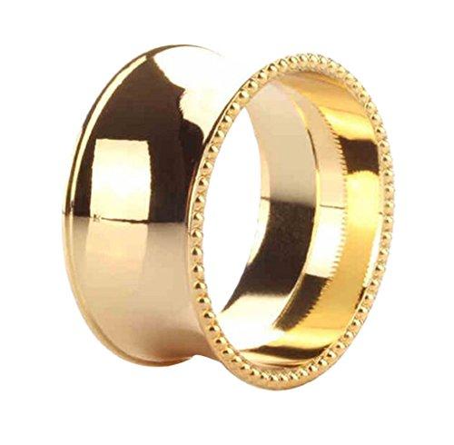 NOBRAND Servettring servett cirkel servett spänne tyg cirkel hotell bord guld silver servettring cirkulär tygspänne 3 Typer 2 färger (pärlkant guld)