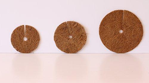 Pokugiardini, Kokos-Mulchscheiben, Ø 20 cm , 3 Stck,