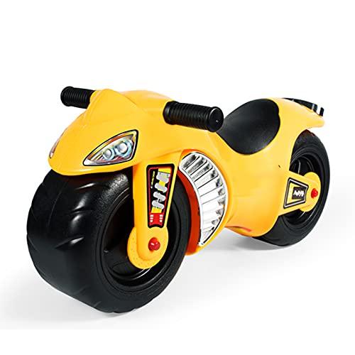 Afang Laufrad Roller Für Kinder Scooter, 2 Räder Kinder Fahrrad Ohne Pedale Kinderscooter Kindermotorradwanderer, Mehrpersonen-Kindergarten Frühförderungsfahrzeug,Gelb