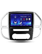 Reproductor GPS Navegación para automóvil, Sistemas de vídeo integrado para salpicadero, enlaces reflejados Bluetooth Android pantalla táctil de 9 pulgadas, para Mercedes Benz Vito 3 W447 2014-2020