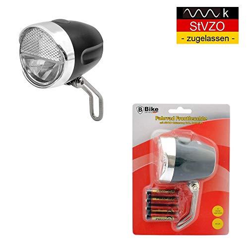 B-Germany 30 LUX Retro Look LED Fahrradbeleuchtung mit StVZO-Zulassung | Fahrradlicht | Fahrradlampe | Fahrrad-Frontlicht mit 2 Helligkeitsstufen