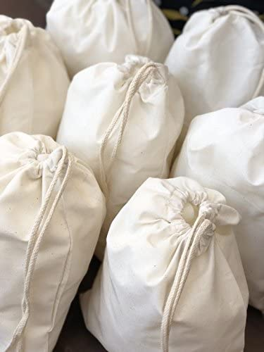 Cotton 4 years warranty Muslin Bags 100% Single Now on sale Drawstring. with Organic