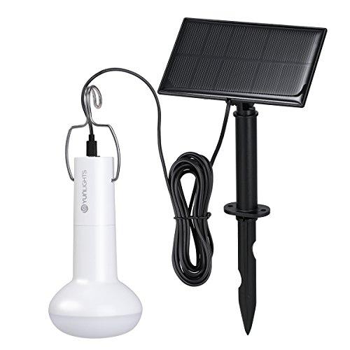 LEDMOMO Tragbare Solar Power Glühbirnen LED Notfall Lampe Outdoor Solar Energy Lampe Beleuchtung für Wandern Angeln Camping Zelt (1 Birne + 1 Solar Panel)