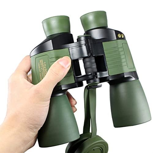 SUNGW Binoculares Compactos 10x50, Auto Enfoque Al Aire Libre Adultos Telescopio Profesional con Visión Nocturna, Bak4 Prisma Fmc Visión Clara Lente, For Concierto, Observación Aves,Caza,Senderismo
