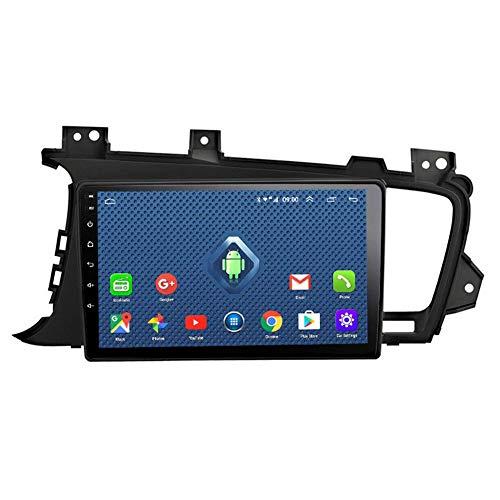 FDGBCF Estéreo de Coche 9 Pulgadas Android 2.5D Pantalla Coche DVD GPS, para KIA k5 2011-2015 Radio de Coche Navegación GPS Unidad Principal Construida en WiFi