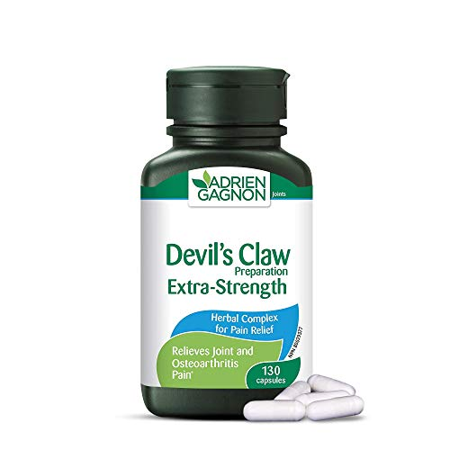 Adrien Gagnon - Devil's Claw (Extra-Strength), for Joint Pain & Osteoarthritis Pain, 130 Capsules (Gift Wrap Available)