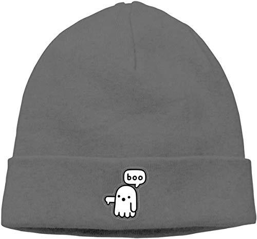 BHGYT Boo Unisex Winter Knitting Wool Warm Hüte Daily Slouchy Hütes Beanie Skull Hut