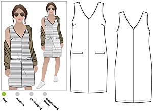 Style Arc Sewing Pattern - Sia Knit Dress (Sizes 18-30) - Click for Other Sizes Available