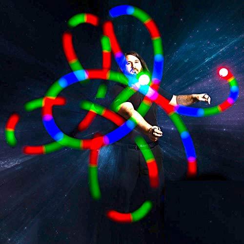 GloFX Geführt OVI Kugeln: 9-Modus Strömungs leuchten Rave Kugeln