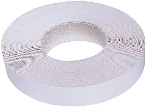 Edge Supply White Melamine 3/4 inch X 25 ft roll of White Edge Banding – Pre-glued Flexible Edging – Easy Application Iron-On Edging for Cabinet Repairs, Furniture Restoration (3/4 inch X 25 ft)