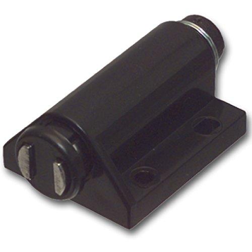 SECOTEC Druk-magneetsnapper zwart; hoogwaardige meubelsnappper; automatische opening; incl. montageschroeven