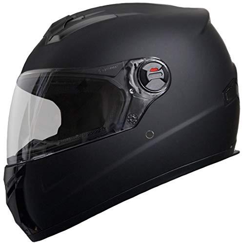 Integralhelm Helm Motorradhelm RALLOX M61 Größe M schwarz matt