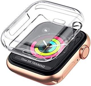 جراب قطعة واحدة لساعة Apple Watch Series 5 4 3 2 واقي شاشة 42 مم، غطاء حماية شفاف ناعم من مادة TPU لجميع الأنحاء لسلسلة iW...