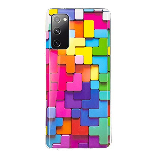 N+A YiKaDa - Hülle Kompatibel mit Samsung Galaxy S20 FE, Ultradünnes Weiches TPU Silikon Anti-Scratch Schutzhülle - Rainbow Cube