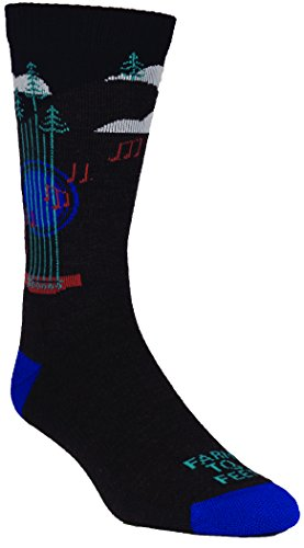 Farm 2 Feet Floyd - Music Festival Crew (Men'S) comes with a Helicase sock ring; Size: M - Charcoal/Surf The Web
