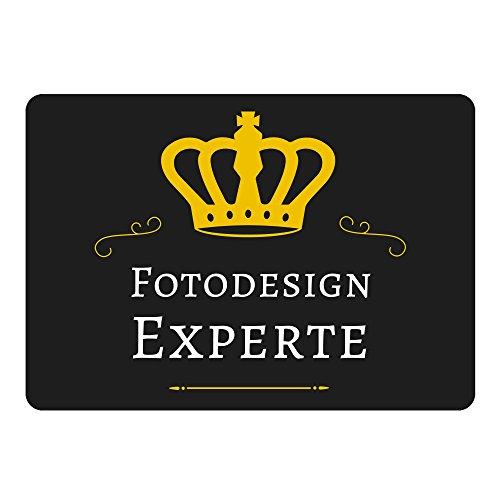 Mousepad Fotodesign Experte schwarz