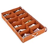 Magicfly Underbed Shoes Storage Box with Built-in Structure, Underbed...