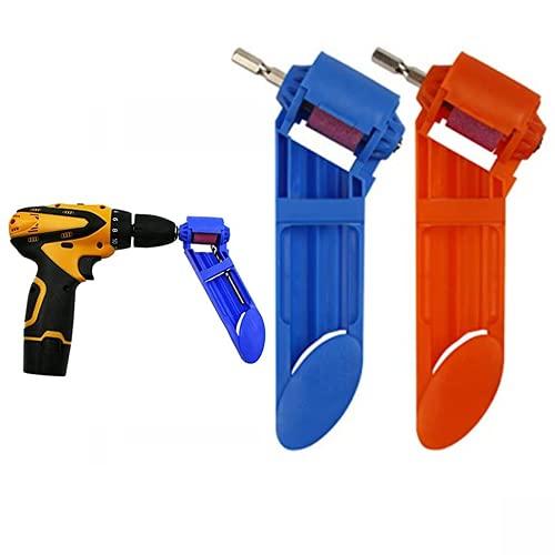 2 Unidades Afilador de Brocas Herramienta Portatil Amoladora Metal Cobalto HSS Alta Dureza