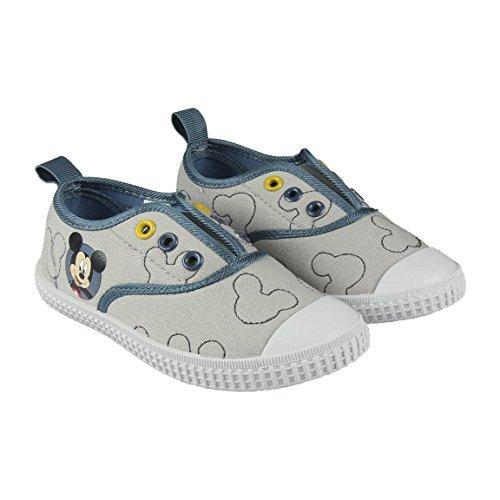 Disney Micky Maus 2300002884 Jungen Sneaker, Schuhe, Canvas, Grau (22)