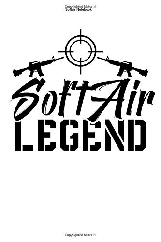Softair Notebook: 100 Pages | Dot Grid Interior | Soft Air Team Squad Sport Gift Game Player Match