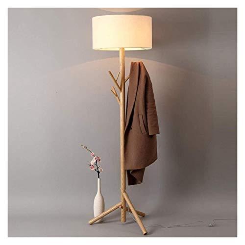Lámpara De Pie Duradera Abrigo De Madera Maciza Creativo Nórdico Adecuado para Sala De Estar Dormitorio De Noche Estudio De Noche Lámpara De Lino Lámpara De Lino Hyococ (Size : A)