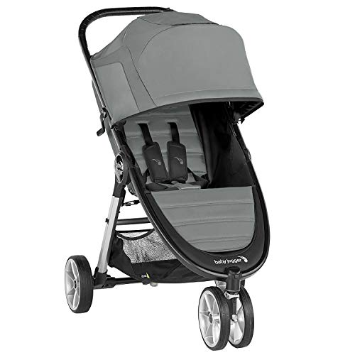 Silla de paseo City Mini® 2 de 3 ruedas Slate de Baby Jogger, desde nacimiento a 22kg. Color gris