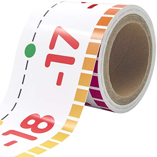 Number Line Bulletin Board Border -20 to 100 Classroom Decoration Set 36ft 1 Roll for Math Classes