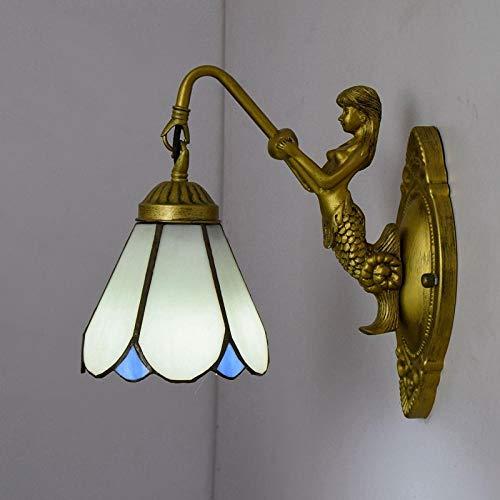 Europese lamp/Tiffany woonkamer/eetkamer/café/club/gang rood wandlamp