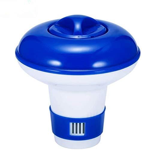 GNNMOY - Dispensador flotante de cloro en C para piscinas, dispensador de cloro para piscinas, cloro flotante para piscinas al aire libre, 5 pulgadas