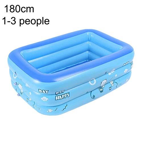 YLCJ Rechteckiges aufblasbares Familien-Paddel-Schwimmbadhaushalt für Baby, Kind, Kinder, Kleinkind, Kleinkinder, mehrere Größenoptionen