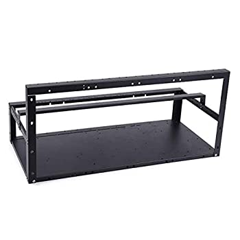 Steel Open Air Miner Mining Frame Rig Case Up to 6 GPU for Crypto Coin Currency Mining