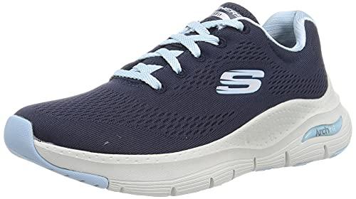 Skechers Damen Arch Fit-Sunny Outlook Sneaker, Navy Light Blue, 21 EU