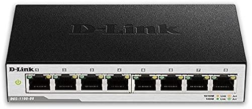 D-Link 8-Port EasySmart Gigabit Ethernet Switch (DGS-1100-08)
