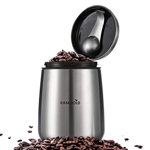 Easehold Coffee Canister,Coffee Bean Container Airtight Container Stainless Steel Food Storage Container with Bonus Magnetic Scoop 18 oz